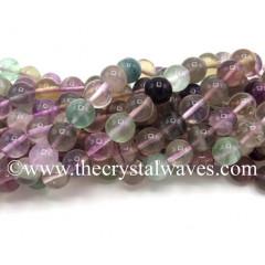 Multi Fluorite Round Beads