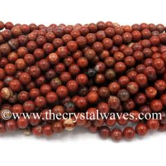 Red Brecciated Jasper Round Beads