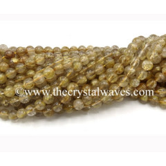 Golden Rutilated Quartz Round Beads