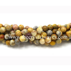 Plum Agate Natural Round Beads