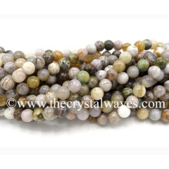 Natural Crazy Agate Round Beads