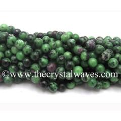 Ruby Zoisite Round Beads
