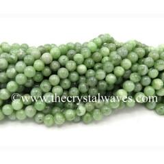 Green Jade Round Beads