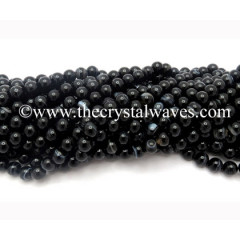 Black Banded Sulemani Agate 6 mm Round Beads