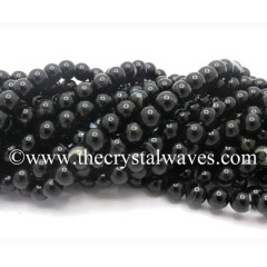 Black Banded Sulemani Agate 10 mm Round Beads