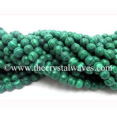 Malachite Manmade 8 mm Round Beads
