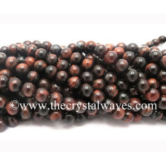 Red Tiger Eye Agate 8 mm Round Beads