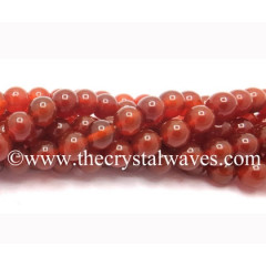 Red Agate Chalcedony 8 mm Round Beads