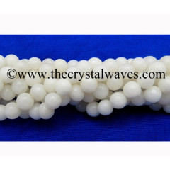 White Agate 8 mm Round Beads