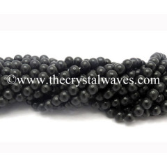 Black Agate 8 mm Round Beads