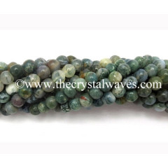Moss Agate 8 mm Round Beads