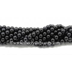 Black Tourmaline 8 mm Round Beads