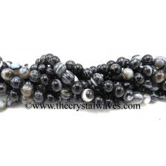 Black Banded Sulemani Agate Eye Design 8 mm Round Beads