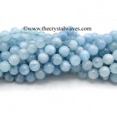 Aquamarine A Grade 8 mm Round Beads
