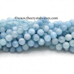 Aquamarine A Grade 8 mm Round Beads