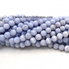 Blue Lace Agate 8 mm Round Beads
