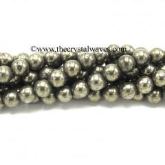 Pyrite 8 mm Round Beads