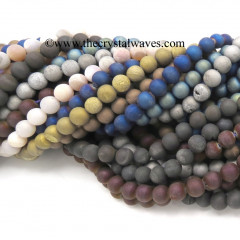 Mix Assorted Druzy 8 mm Round Beads