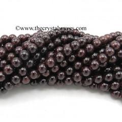 Garnet 8 mm Round Beads