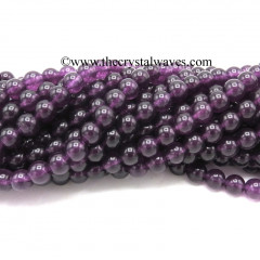 Amethyst Color Dyed Quartz 8 mm Round Beads