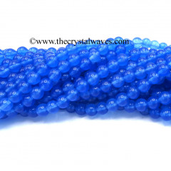 Blue Light Dyed Quartz 8 mm Round Beads