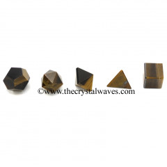 Tiger Eye Agate 5 Pc Geometry Set