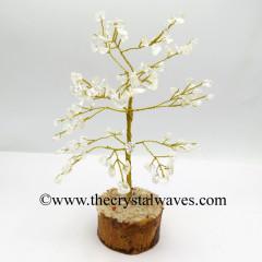 Crystal Quartz 200 Chips Golden Wire Gemstone Tree