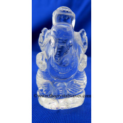 Crystal Quartz Hand Carved  Ganesha Good Quality 20 To 30 Grms