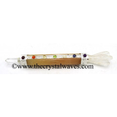 Yellow Aventurine Chakra Healing Stick With Angel