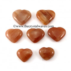 Peach Moonstone 15 -25 mm Pub Hearts
