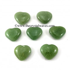 Green Aventurine 15 -25 mm Pub Hearts
