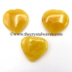 Yellow Aventurine 15 -25 mm Pub Hearts