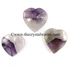 Chevron Amethyst 15 -25 mm Pub Hearts