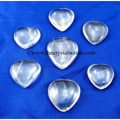 Crystal Quartz Good Quality 25 - 35 mm Pub Heart