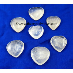 Crystal Quartz 25 - 35 mm Pub Heart