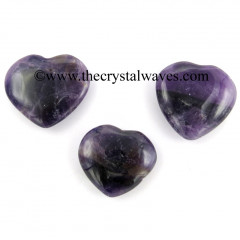 Amethyst Good Quality 25 - 35 mm Pub Heart