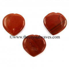 Red Jasper 35 - 55 mm Pub Heart