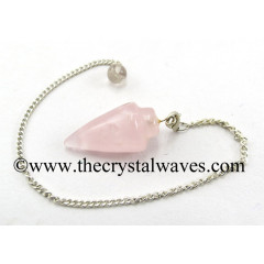 Rose Quartz Smooth Pendulumn