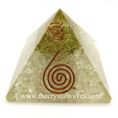Selenite Chips Orgone Pyramids With Copper Wrrapped Crystal Point