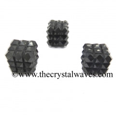 Shungite Lemurian 54 Pyramid Power Cube