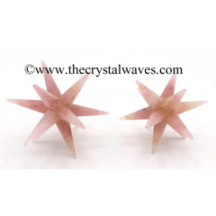 Rose Quartz 12 Point Merkaba Star