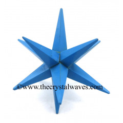 Turquoise Manmade 12 Point Merkaba Star