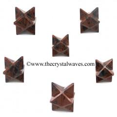 Mahagony Obsidian Merkaba Star
