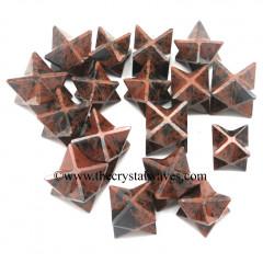 Mahagony Obsidian Big Merkaba Star