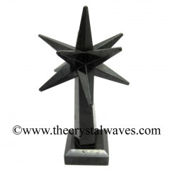 Black Agate Merkaba Star Tower