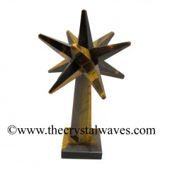 Tiger Eye Agate Merkaba Star Tower