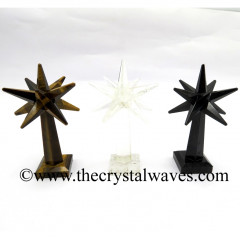 Mix Assorted Gemstones Merkaba Star Tower