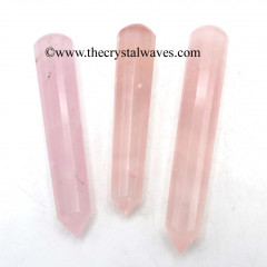 Rose Quartz High Grade Faceted Massage Wands