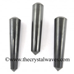 Shungite Smooth Pointed Massage Wands