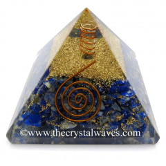 Lapis Lazuli Orgone Pyramids With Copper Coil